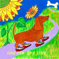 DACHSHUND WITH TENNIS SHOES by Rita Whaley