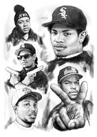 N.W.A. Drawing Art Poster