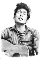 Bob Dylan Drawing Art Poster