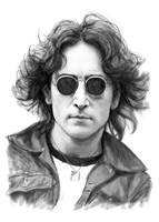 John Lennon Drawing Art Poster