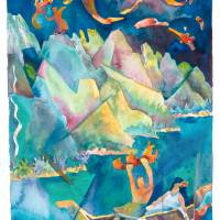 NA PALI FIRE THROWER Art Prints & Posters by Michael Ives