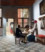Pieter de Hooch Card Players in a Sunlit Room