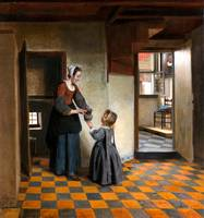 Pieter de Hooch A Woman with a Child in a Pantry