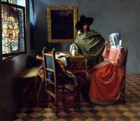 Jan Vermeer van Delft The Glass of Wine