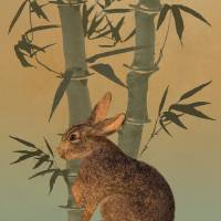 Hare Under Bamboo Tree by I.M. Spadecaller