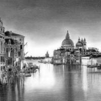 Venice Pencil Drawing Art Prints & Posters by David Rives