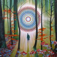 Mandala Forest 2017. 120 x 160 cms painting Art Prints & Posters by Pascal Roy