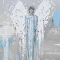 """""Faithful Protector"" Angel Painting"" by ChristineKrainock"