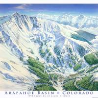 """Arapahoe Basin"" by jamesniehuesmaps"