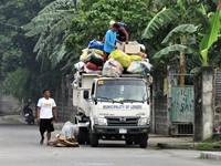 Garbage collectors in Lemery, Batangas, Philipines