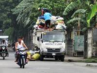 Garbage collectors in Lemery, Batangas, Philippine