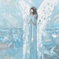 """""An Angels Prayer"" Angel Painting"" by ChristineBell"