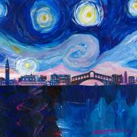 Starry Night in Venice - Van Gogh inspired Italy Art Prints & Posters by M Bleichner