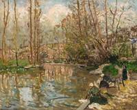 Maxime Maufra 1861 - 1918 THE WASHER, EDGES MARNE