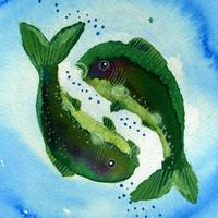Pisces Zodiac Horoscope Painting