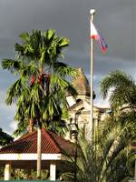 Taal basilica and Filipino flag