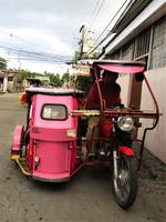 Filipino tricycle in Lemery - 2