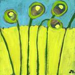 Growing in Green and Turquoise by Jennifer Lommers