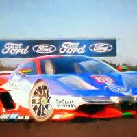 ford gt Art Prints & Posters by Tom Sachse