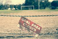 Goal area closed