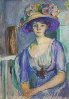Isaac Grünewald - Portrait of IIse Morssing 1910