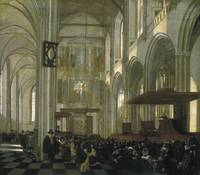 Interior of the Nieuwe Kerk, Amsterdam, during a S