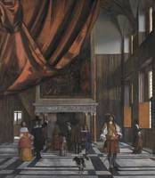 Interior of the Council Chamber of Amsterdam Town