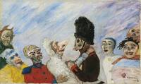 James Ensor - Squelette arrêtant masques (Skeleton