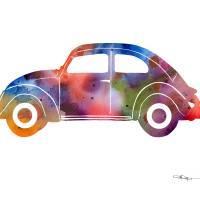 Volkswagen Bug Art Prints & Posters by David Rogers