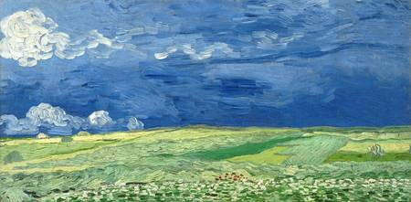 VINCENT VAN GOGH, WHEATFIELD UNDER THUNDERCLOUDS