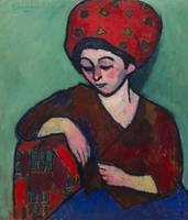 Helene with Colored Turban by Alexei Jawlensky