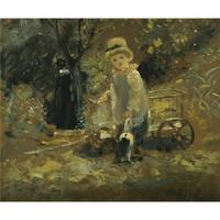 John Constable, R.A. A BOY WITH A TOY CART