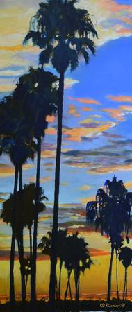 Mission Bay Sunset verticle tall 2015