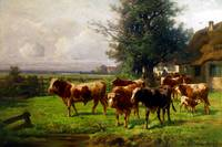 Adolf Chelius Cow Herd at Dachau