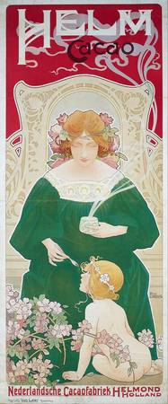 Vintage Art Nouveau Advertisement Helm Cacao