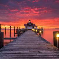 North Carolina Outer Banks Manteo Lighthouse OBX N Art Prints & Posters by Dave Allen