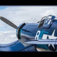 F4U Corsair N11Y (With built-in mat) Art Prints & Posters by Mark E Loper