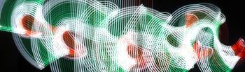 green red white light painting
