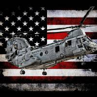 """""""APS CH-46 HMM-774 406 BLACK"""" by corpsgraphics"""