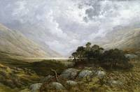 Landscape in Scotland by Gustave Dore, circa 1878.