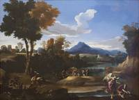 Landscape with Tobias and the Archangel Raphael ca