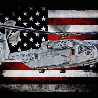 """CH-53K KING STALLION HORIZ BLACK"" by corpsgraphics"