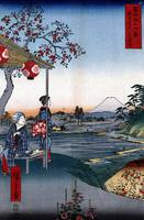 Utagawa Hiroshige The Teahouse View of Mt. Fuji