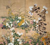 Ogata Korin Flowering Plants in Autumn