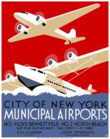 Vintage New York City Municipal Airports WPA