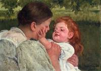 Mary Cassatt - Maternal Caress [c.1896]