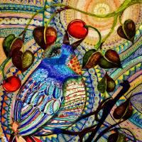 BLUE BIRD ZEN Art Prints & Posters by Alma Lee