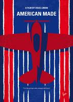 No869 My American Made minimal movie poster