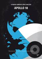 No873 My Apollo 18 minimal movie poster