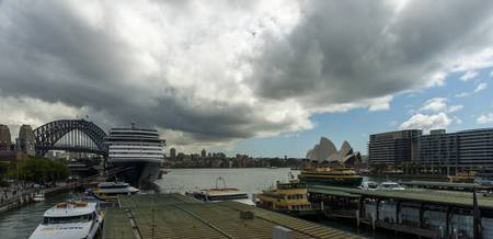 Panoramic view Circular Quay Railway station impen
